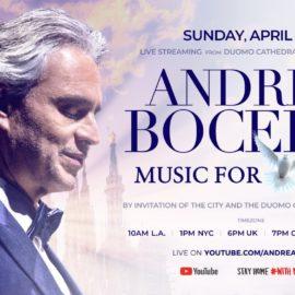 Podrás ver a Andrea Bocelli en el Duomo de Milán desde casa