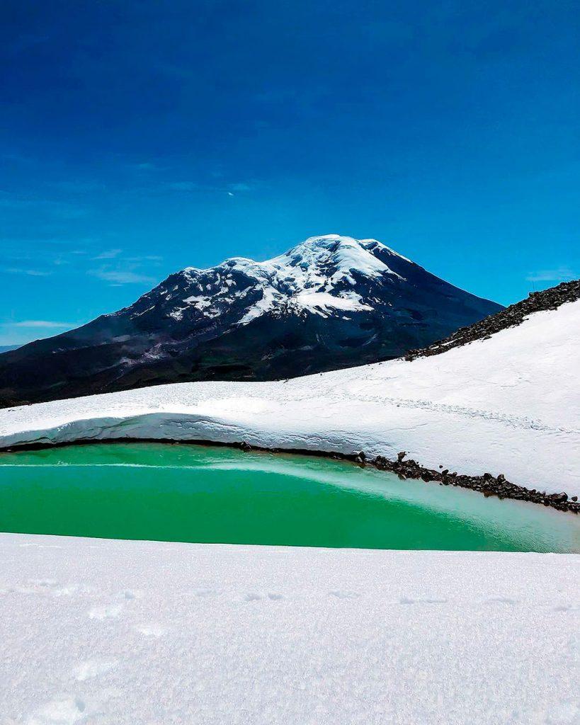 Chimborazo en la Cordillera de los Andes