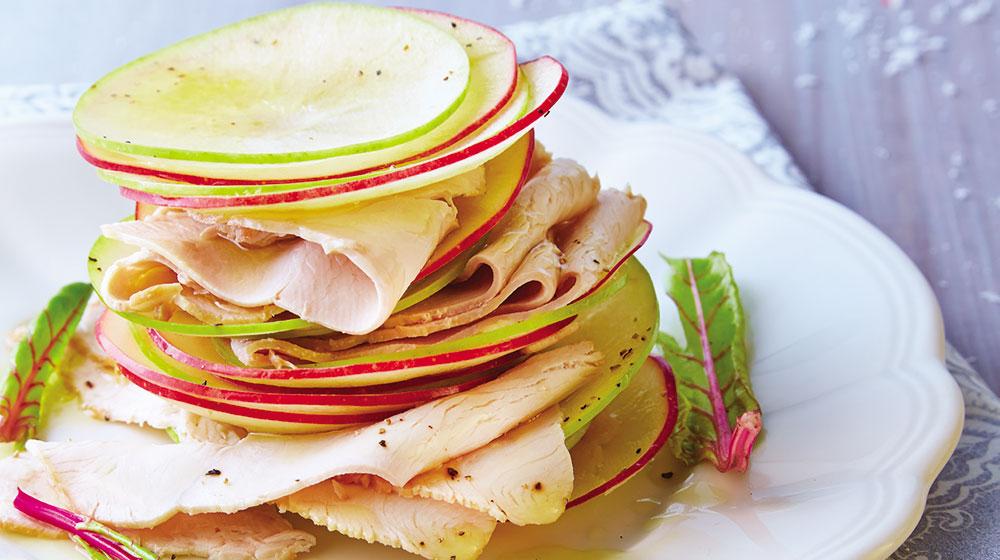 Ensalada de manzana y pavo