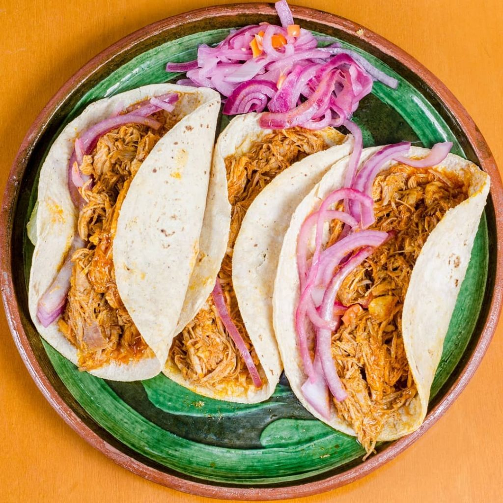 tipos de tacos mexicanos menú