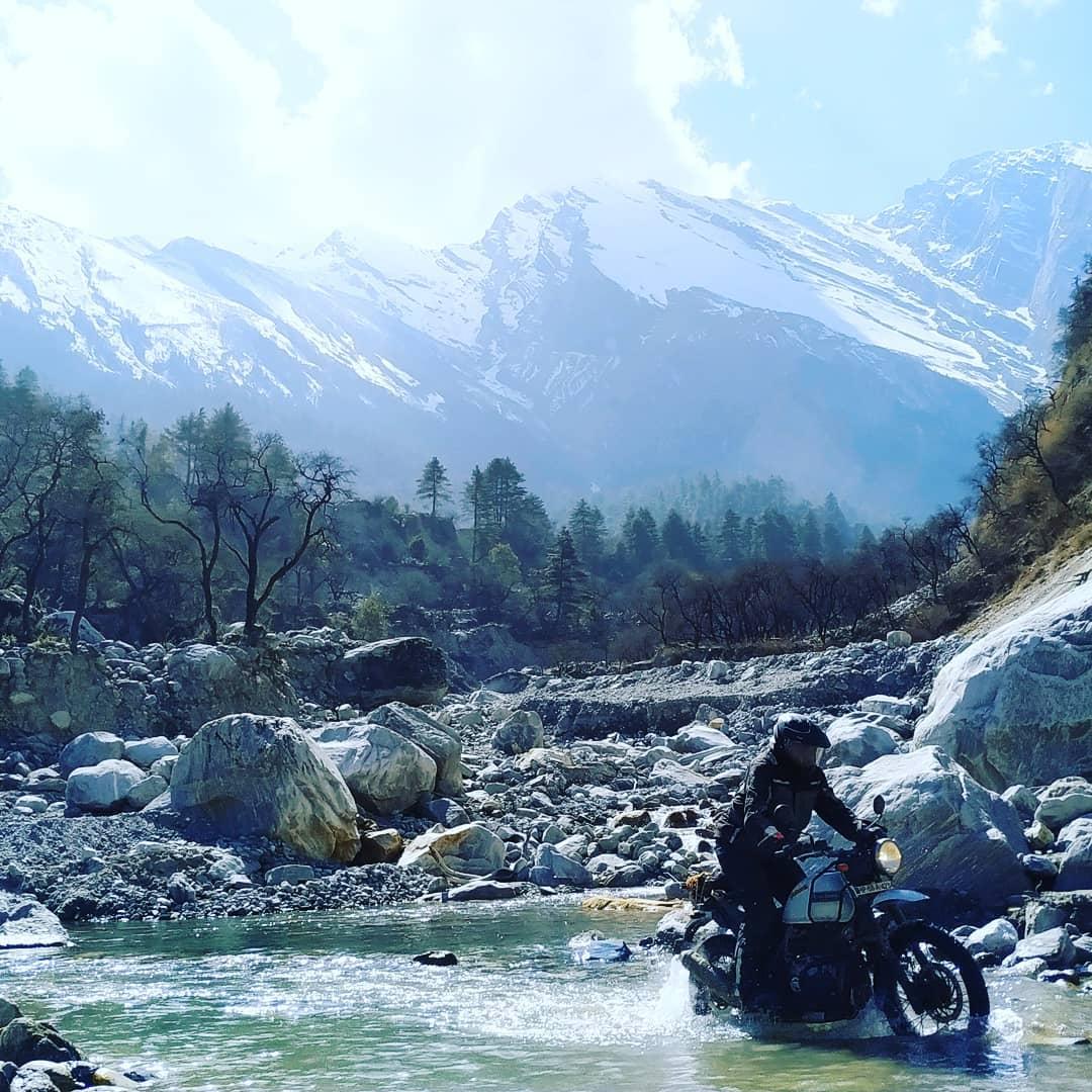viajar en moto por india