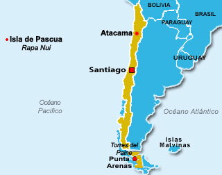 Desierto de Atacama mapa